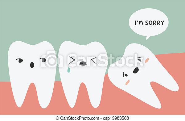 dente, impactou - csp13983568