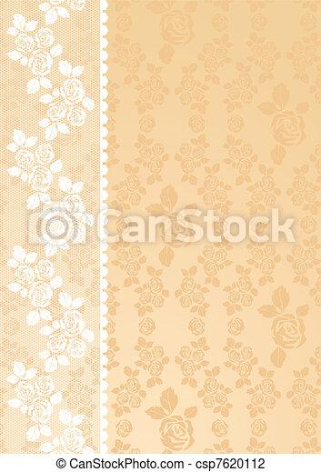 dentelle, beige - csp7620112