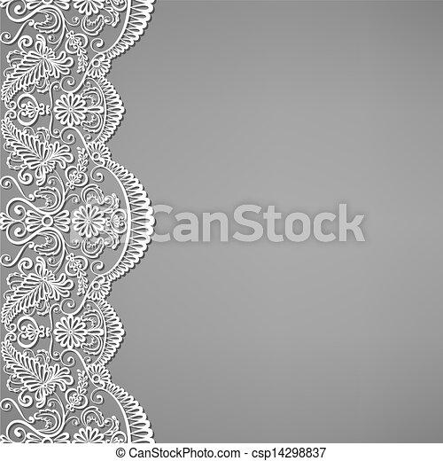 dentelle, ornements, floral - csp14298837