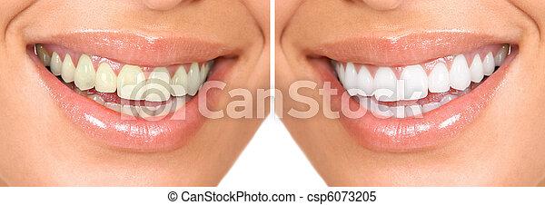 dentes saudáveis - csp6073205