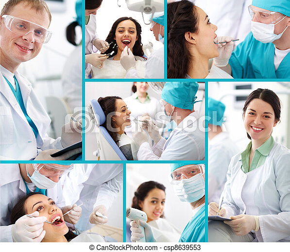 Dentist and patient - csp8639553