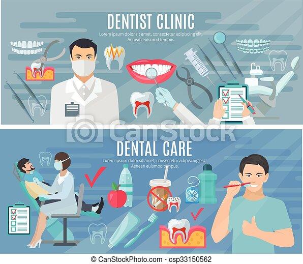 Dentist Banners Set - csp33150562