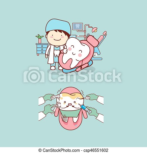 dentist with tooth - csp46551602