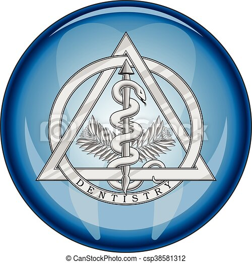 Dentistry Medical Symbol Button Is An Illustration Of A Vector