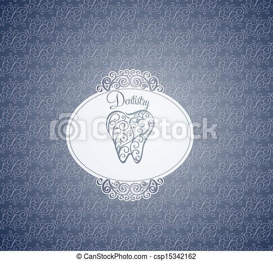 Dentistry wallpaper design - csp15342162