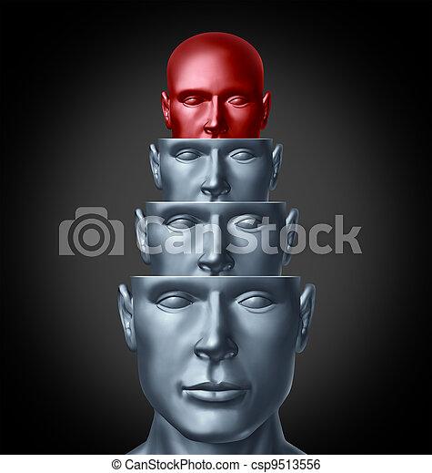 dentro, mente, creativo - csp9513556