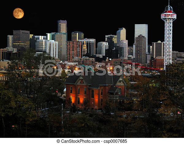 Denver cityscape - csp0007685