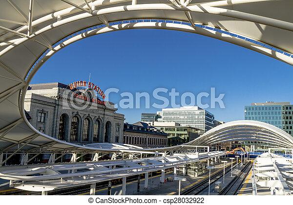 Denver Union Station Train Depot - csp28032922