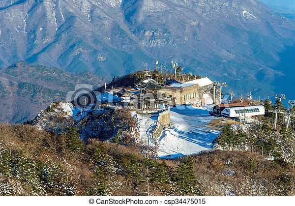 Deogyusan mountains in winter, South Korea. - csp34475015