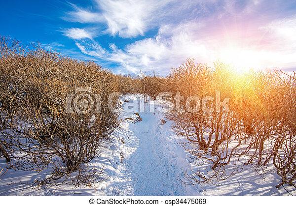 Deogyusan mountains in winter, South Korea. - csp34475069
