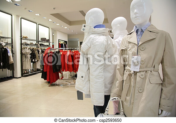 department of children upper clothes in shop - csp2593650