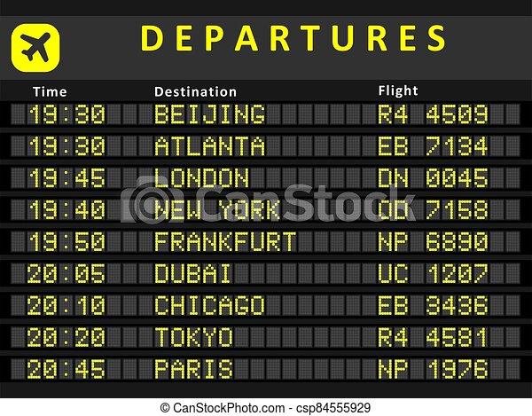 Departure board - csp84555929