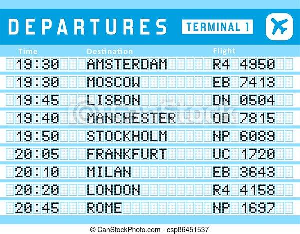 Departures vector - csp86451537