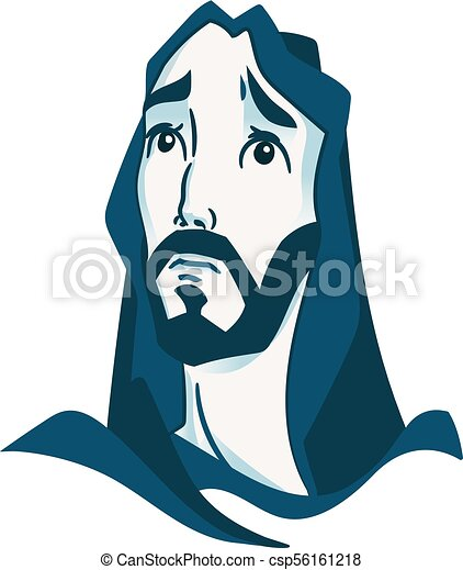 depicted jesus christ the founder of the christian vector clip rh canstockphoto com jesus christ clipart free jesus christ clipart png
