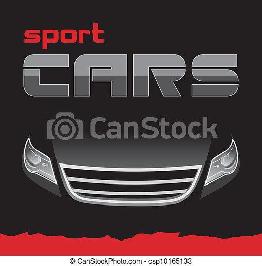 Auto deportivo. Un fondo para tarjeta - csp10165133