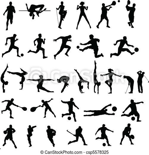Colección de deportes - csp5578325
