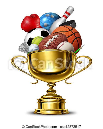 deportes, taza - csp12873517