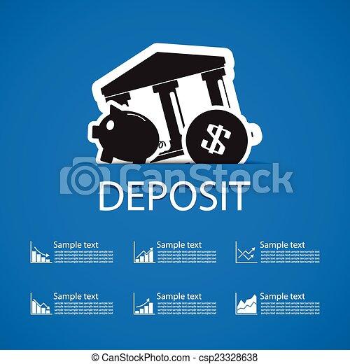 deposit bank icons design - csp23328638