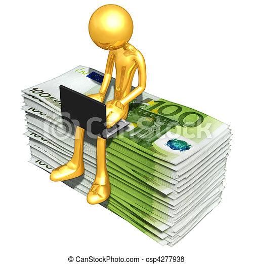 Banca en línea - csp4277938