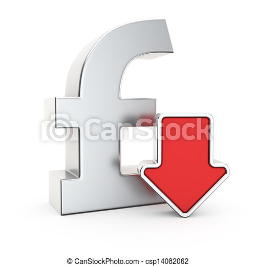Depreciation Of The Pound Pound Currency Symbol And Icon Of