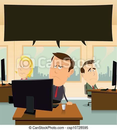 Depresión en la oficina - csp10728595
