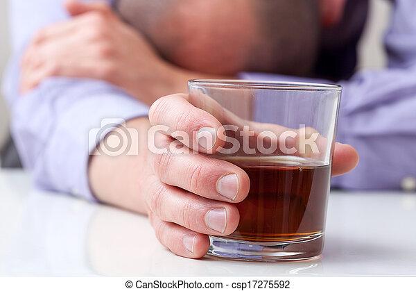 Depressed alcoholic - csp17275592