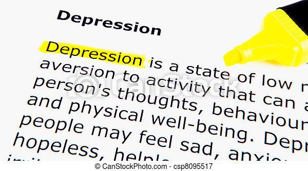 Depression - csp8095517
