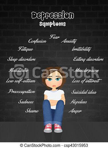 illustration of depression symptoms