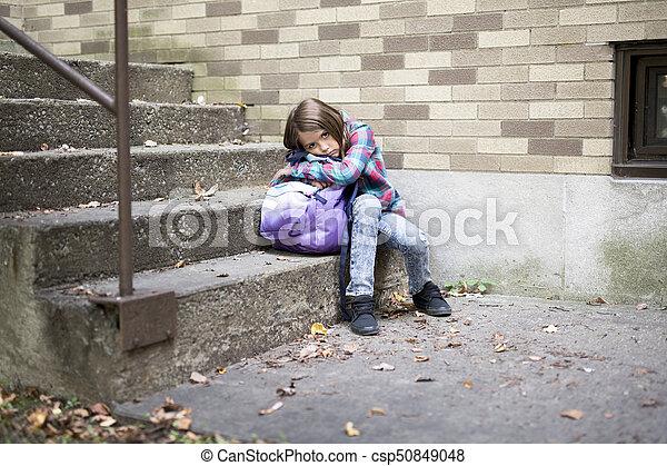 deprima, escola, estudante primário - csp50849048