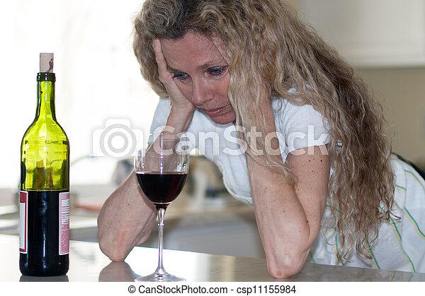 Esposa deprimida - csp11155984