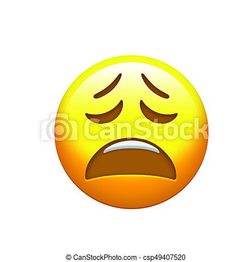 Deprimido Triste Cara Amarilla Emoji Clip Art Icono Amarillo Infeliz