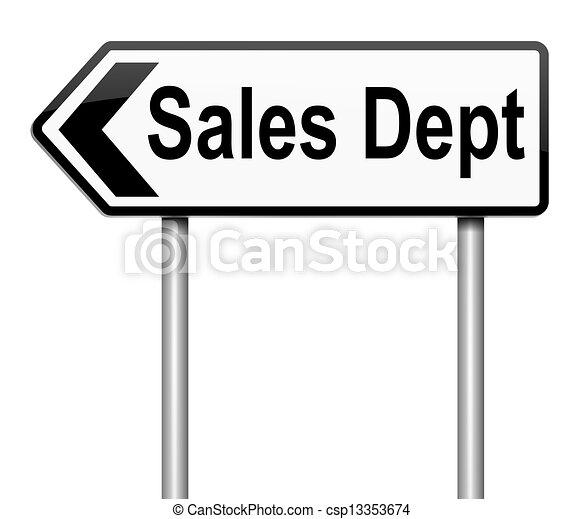 Concepto de ventas. - csp13353674