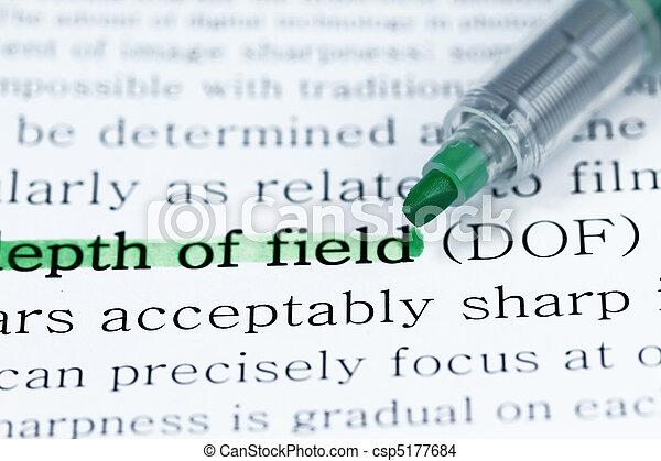 Depth of field - csp5177684