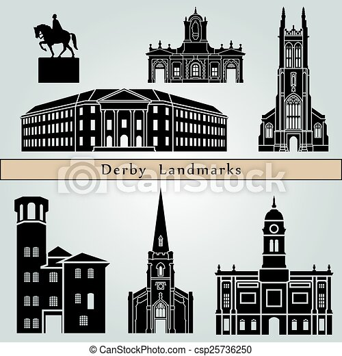 Derby landmarks and monuments - csp25736250