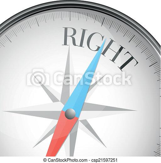 Compass derecha - csp21597251