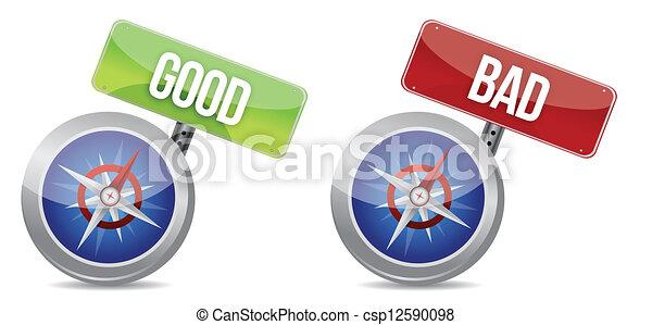 Compass ayudándote a tomar la decisión correcta - csp12590098