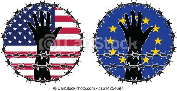 Violación de los derechos humanos - csp14254697