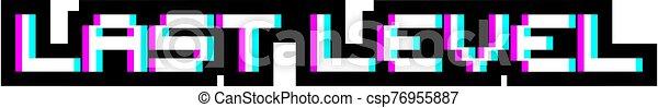 dernier, niveau, visuel, message - csp76955887