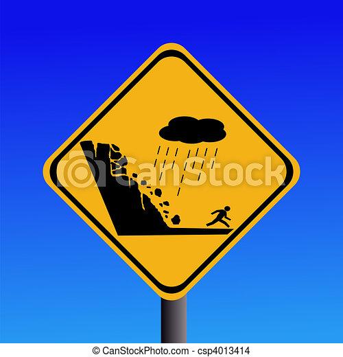 Peligro de deslizamiento de tierra - csp4013414