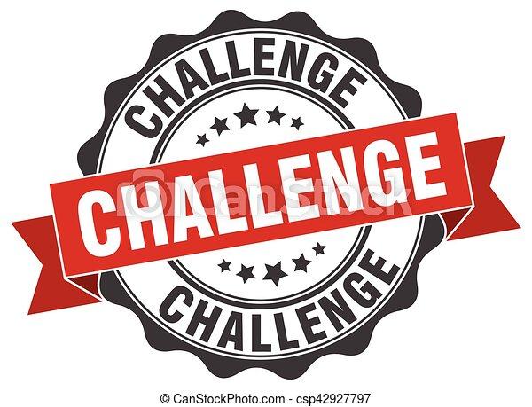 Un sello de desafío. Firma. Sellen - csp42927797