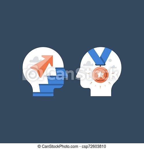 Camino al éxito, mejora rápida, incentivo y motivación, desarrollo potencial, mentalidad creciente, entrenamiento intensivo - csp72603810