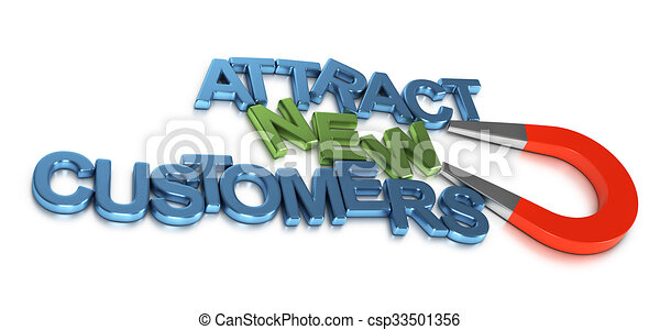 Atraer nuevos clientes, desarrollo de negocios - csp33501356