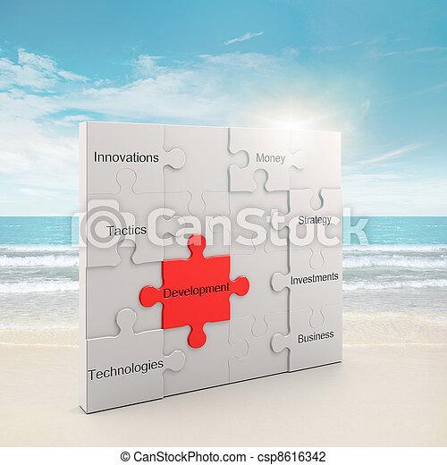 desarrollo, rompecabezas, concepto - csp8616342