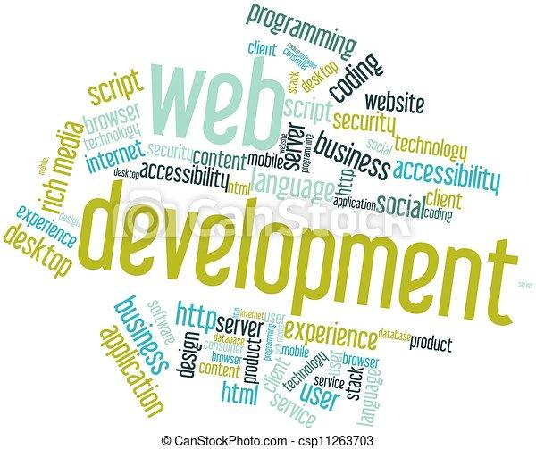 desarrollo, tela - csp11263703