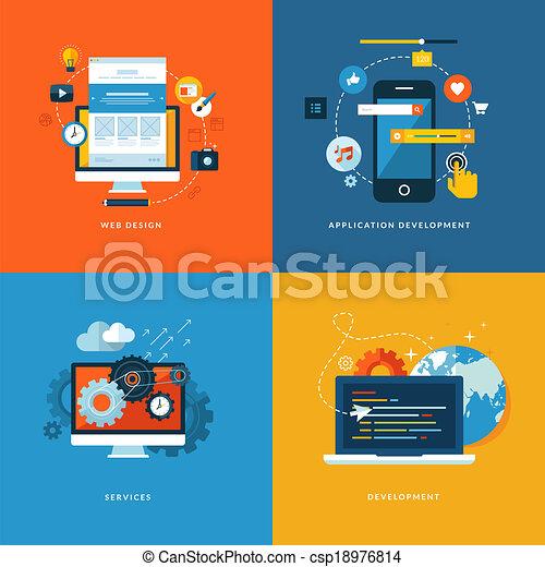 Voló iconos para el desarrollo de la web - csp18976814