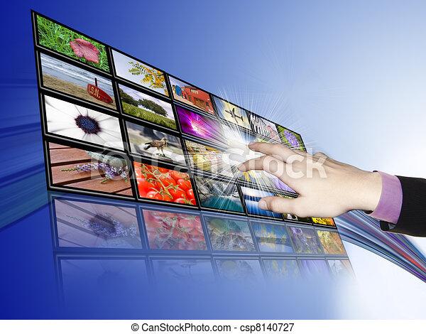 desarrollo, touch-screen, tecnología, comunicaciones - csp8140727