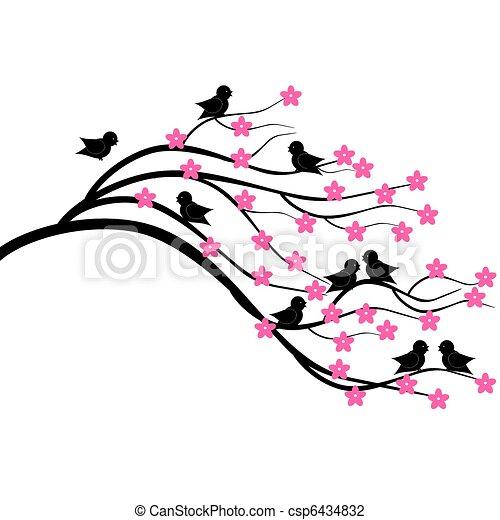 Almuerzo con pájaros - csp6434832