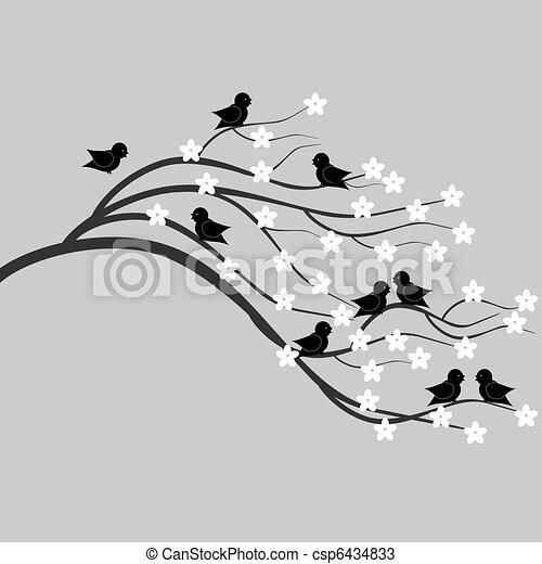Almuerzo con pájaros - csp6434833