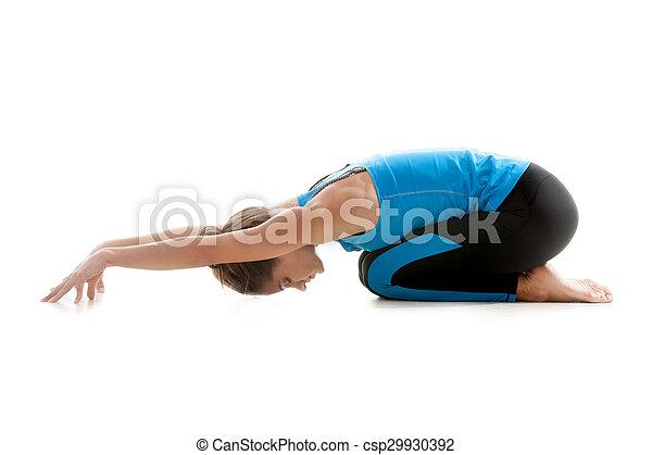 descansar menina ioga ioga sporty relaxante fundo