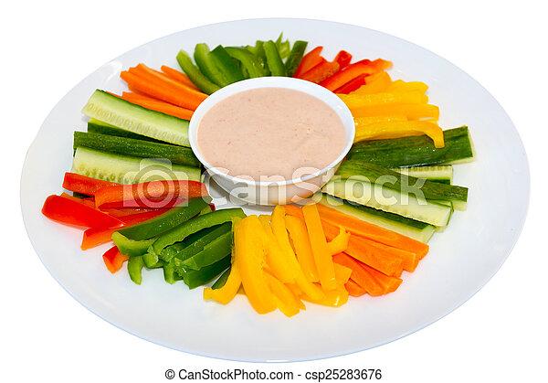 descendez sauce, salade verte - csp25283676